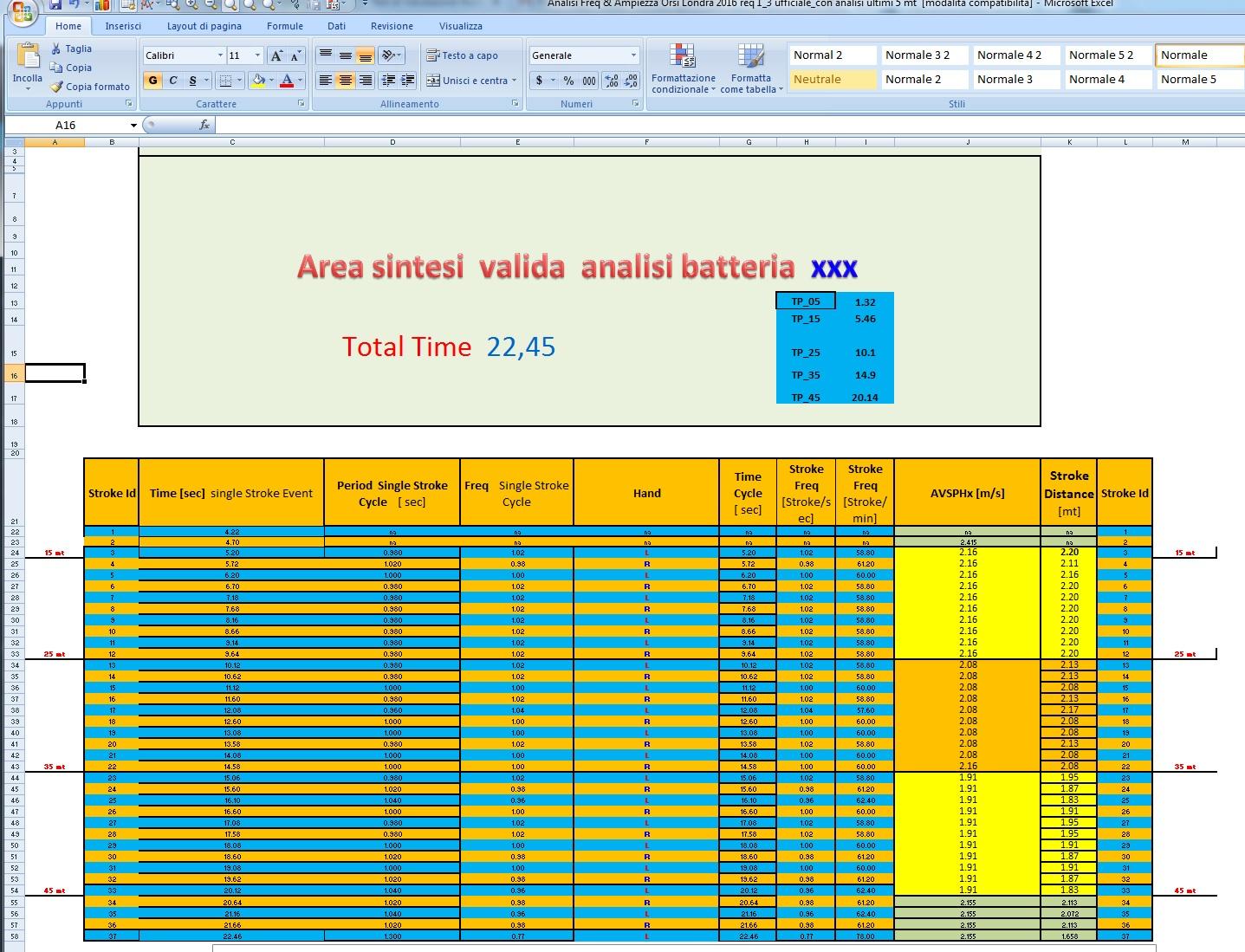 6 - Area dati elaborati dal processo di videoanalisi